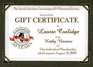 SSGHS Gift Membership